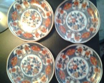 Vintage Japanese plates signed set of four