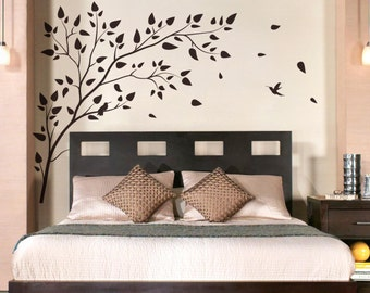 Vinyl Art Tree Branch with birds  Wall Sticker Decals Home Decor Art by DecalIsland -  Tree Branch with birds SD 004