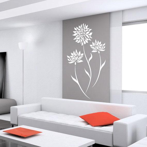 Fleur stickers pour murs de stickers pour murs b b chambre for Accessori design casa