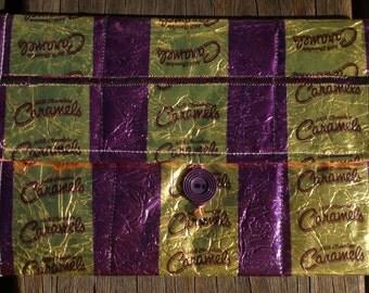 Milk Chocolate Caramels wrapper clutch purse
