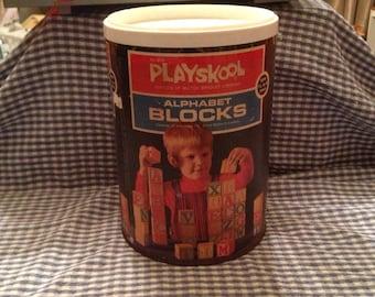 Playskool alphabet blocks