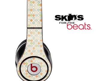 Circle Dotted Skin for the Beats by Dre Studio, Solo, MIXR, Pro or Wireless Version Headphones