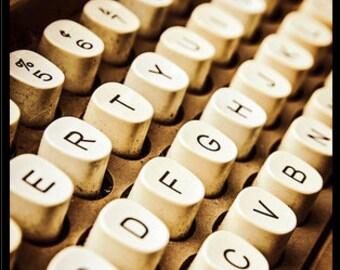 Vintage Typewriter Keys Print