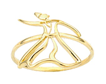 Whirling Dervish 14 k Solid Gold Ring