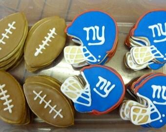 Football Helmet Cookies