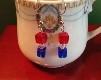 Star Spangled Banner Dangle Earrings