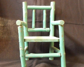 Vintage wooden doll's chair