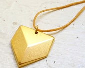 Golden Geometric Shield Necklace