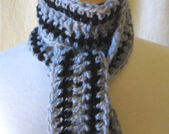 Crochet PATTERN Fred Astaire Scarf  - Fast Easy Unisex DIY Instant Download PDF
