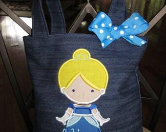 TOTE BAG Disney's Cinderella Personalized Toddler or Big Kid Tote