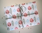 jingle bells - eco friendly gift wrapping paper - A2 (42x59,4cm) - 2 sheets