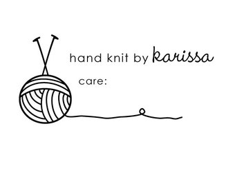 hand knit 1 rubber stamp