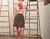 Waist Bandit Skirt- in Brown and orange