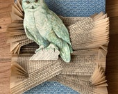 SALE - Original Altered Book with Snowy Owl