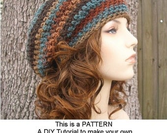 Instant Download Crochet Pattern - Hat Crochet Pattern - Crochet Hat Pattern for Weekender Slouchy Hat - Womens Hat - Womens Accessories