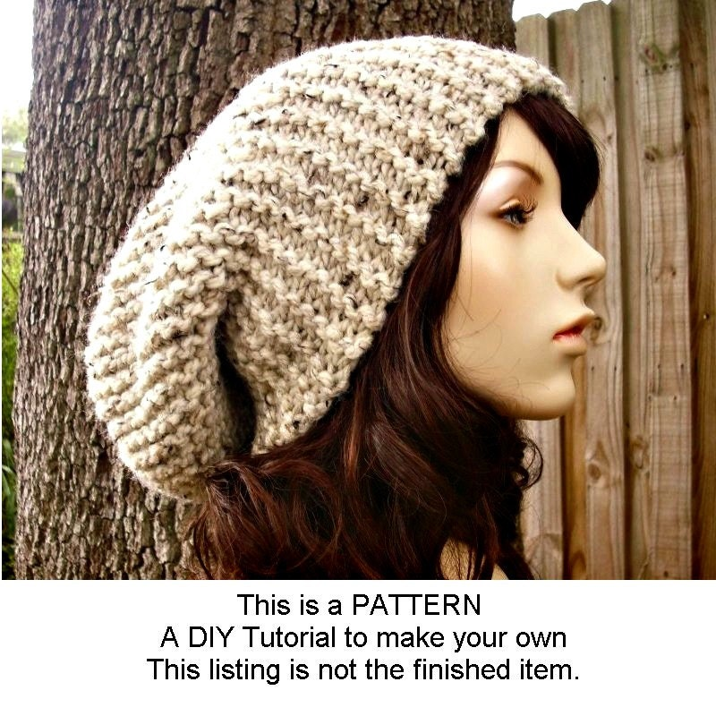 Instant download knitting pattern oversized slouchy hat pattern instant download knitting pattern oversized slouchy hat pattern slouchy beanie knit hat pattern mens hat pattern womens hat pattern dt1010fo