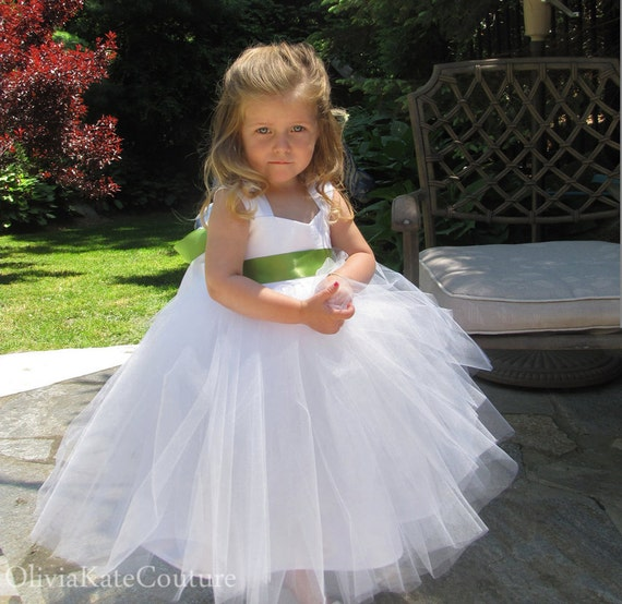 White Cotton Flower Girl Dresses 39