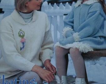 Sweater Knitting Patterns Skating Style Beehive Patons 932 Blanket Skirt Ballet Wrap Mittens Cardigan Hat  Paper Original NOT a PDF