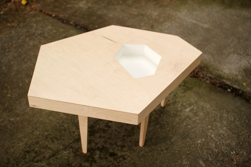 Sale Modern Coffee Table Maple Plywood 35 X 27 X 17
