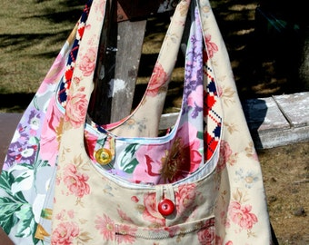Instant Download PDF The Paris Flea Market Tote Bag Sewing Pattern DIY Tutorial EASY and Quick to Make Purse