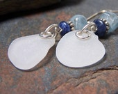 Water Drops - Sea Glass STERLING Silver EARRINGS