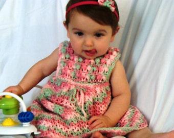 LaRue Dress - PDF Crochet Pattern Girls Dress