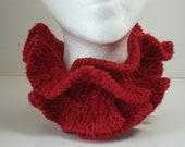 Crimson Red Scarflette Neck Muff