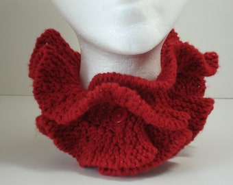 Sale Crimson Red Scarflette Neck Muff