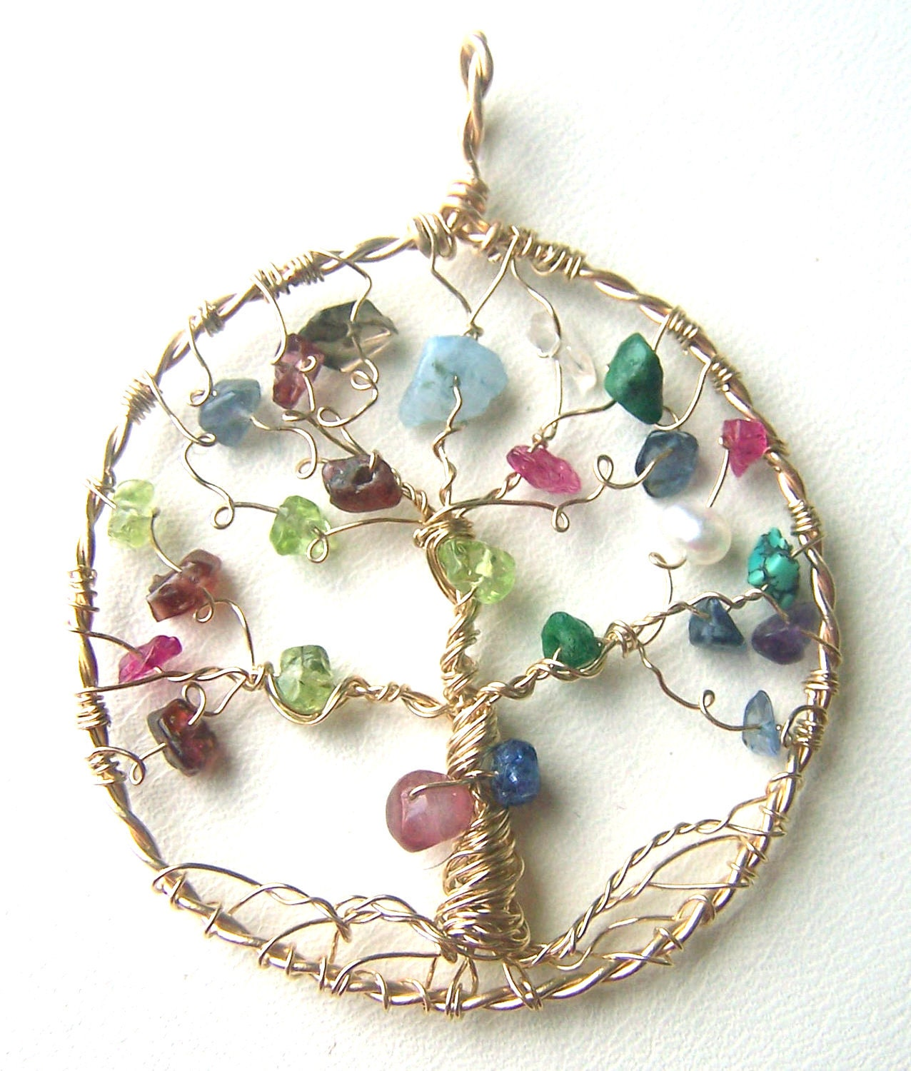 Family Tree Necklace Pendant Gold Tree Of Life Jewelry