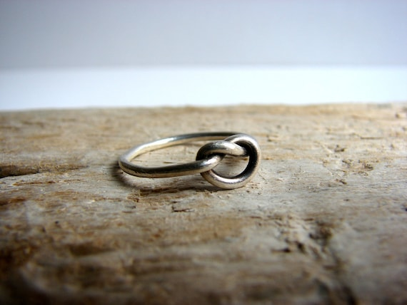 Infinity Ring Love Knot Ring Sterling Silver
