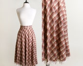 1970s Plaid Skirt - Family Fashions by Avon Autumn Fall Fashion - XS Small