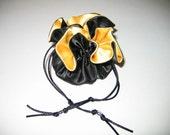 Bridesmaid Gift Bag Jewelry Gift Bag Black and Gold Satin