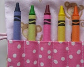 Crayon Roll Dancing Monkeys Includes 8 Crayons