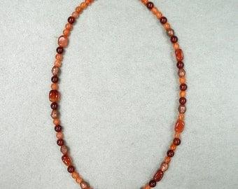 Carnelian & Copper Necklace - OOAK
