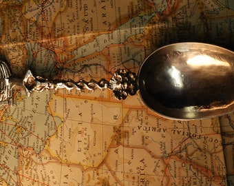 1807 Mourning Spoon Dutch Silver Sterling by E. Rienstra 833
