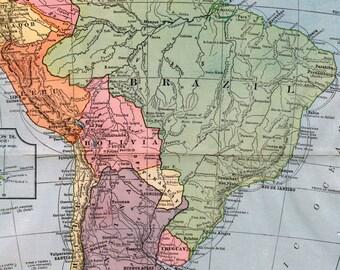 1934 Hammonds Map of South America