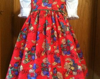 Christmas Kitties Jumper/Pinafore Dress Size 2-8