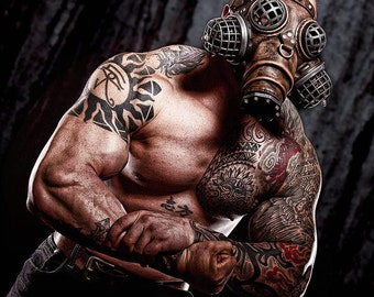 Ragnarok Gas Mask -- Steampunk Leather