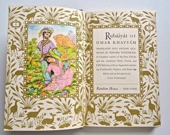 1947 Rubaiyat of Omar Khayyam - Beautifully Illustrated Poetry Book