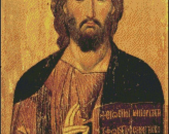 JESUS CHRIST PANTOCRATOR cross stitch pattern No.300