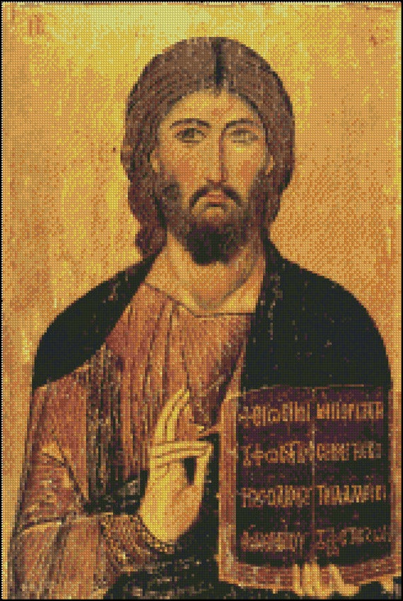JESUS CHRIST PANTOCRATOR cross stitch pattern No.300