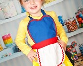 Kids apron for girls Snow White inspired Princess childrens full apron birthday kids apron  gift