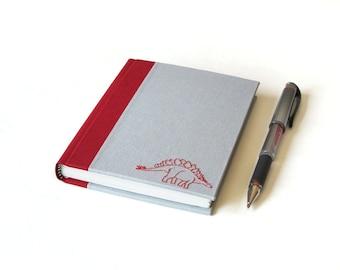 SALE - Dinosaur Notebook - Embroidered Stegosaurus - Lined Journal