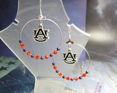 Auburn Tigers - College Hoop Earrings