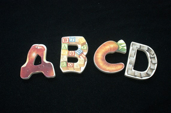26 Large Alphabet Wooden Puzzle Pieces for Collage, Steampunk, Embellishments, or Altered Art