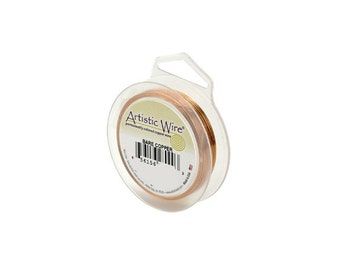 Artistic Wire 28 Gauge Bare Copper 43085 Round Shiny 40 Yards