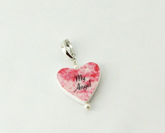 Custom Heart Shaped Photo Charm - P12