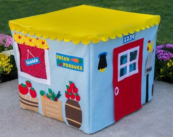 Card Table Playhouse, Farm Stand , Personalized, Custom Order