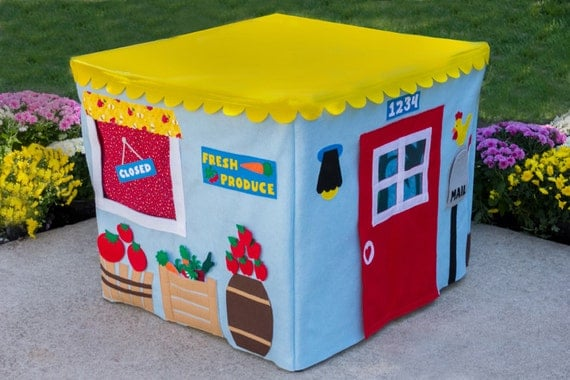 Farm Stand Card Table Playhouse, Personalized, Custom Order