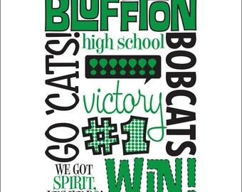 16 x 20 giclee print for Bluffton High School in Bluffton, SC